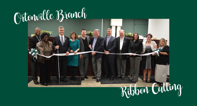 Ortonville Branch Ribbon Cutting
