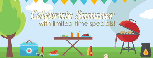 Celebrate summer with account specials all month long!