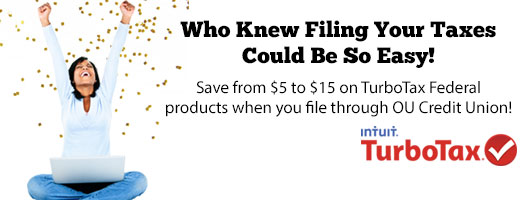 Save money when you file your taxes through OU Credit Union!