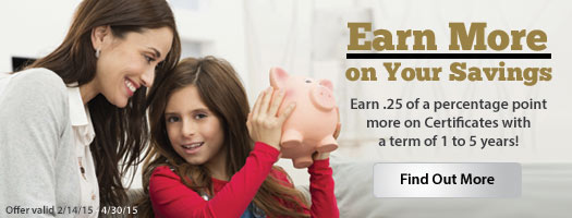 Earn more on your savings at OU Credit Union!
