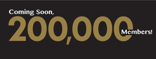 Coming soon, 200,000 members!