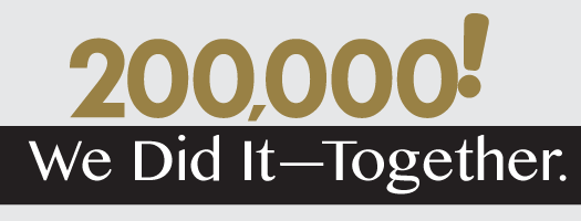 200,000! We Did It - Together.